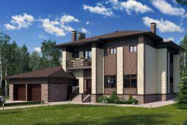 Проект двухэтажного дома Пралине (393,66 кв.м.)