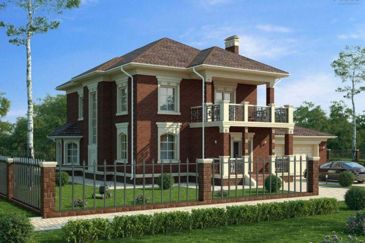 Проект двухэтажного дома Лион-1, 349 м²