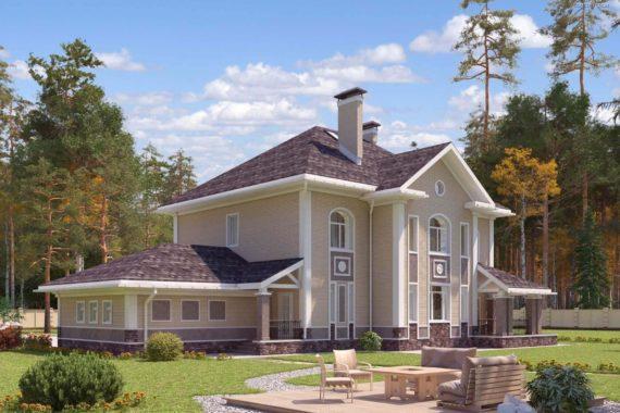 Проект двухэтажного дома Соната (324 кв.м.)