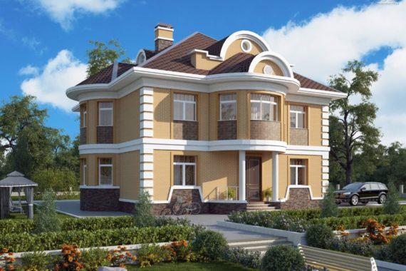 Проект двухэтажного дома Валери М, 395 м²