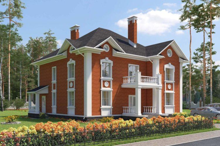 Проект двухэтажного дома в современном оформлении «Виктория» (261 кв.м.)