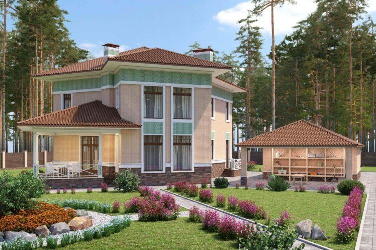 Проект двухэтажного дома Тиффани, 251 м²