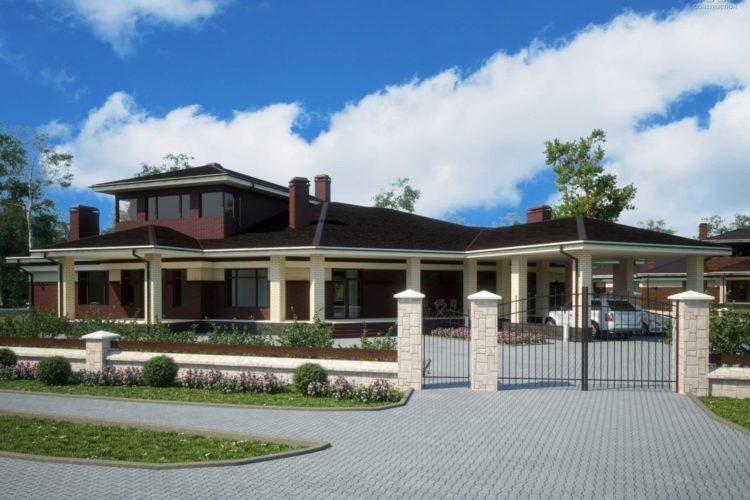 Одноэтажный дом с бассейном Фьюжн-3 (800 кв.м.)