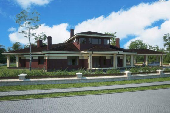 Загородный дом в стиле Фьюжн-2 (366 кв.м.)