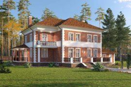 Проект двухэтажного дома с террасой и гаражом на 2 места Мирабель-3,2 (527,65 кв.м.)