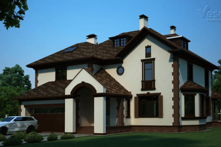 Проект двухэтажного дома с мансардой Сан Тропе-2 (430 кв.м.)