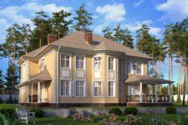 Проект двухэтажного дома с гаражом Сан Тропе-1, 336 м²