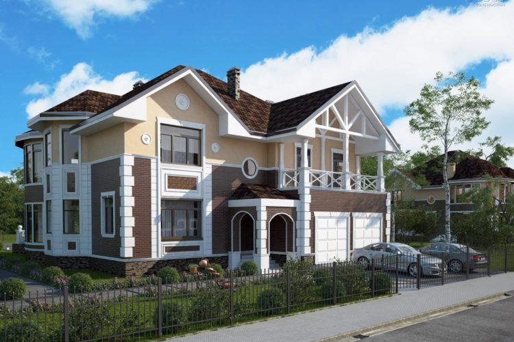 Проект двухэтажного дома с бассейном Таскана (479 кв.м.)