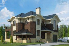 Проект двухэтажного дома Глория (326,6 кв.м.)