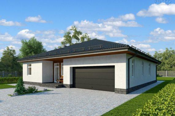 Проект одноэтажного дома Орландо с тремя спальнями, 187 м²
