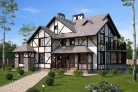 Проект двухэтажного жилого дома Шварцвальд (336 кв.м.)