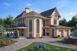 Проект двухэтажного дома с патио «Эльзас» (326,3 кв.м.)