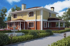 Проект двухэтажного дома «Валенсия» (331,7 кв.м.)