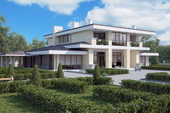 Проект двухэтажного дома Дейтон, 590 м²