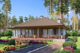 Проект одноэтажного дома в скандинавском стиле Лахти, 220 м²