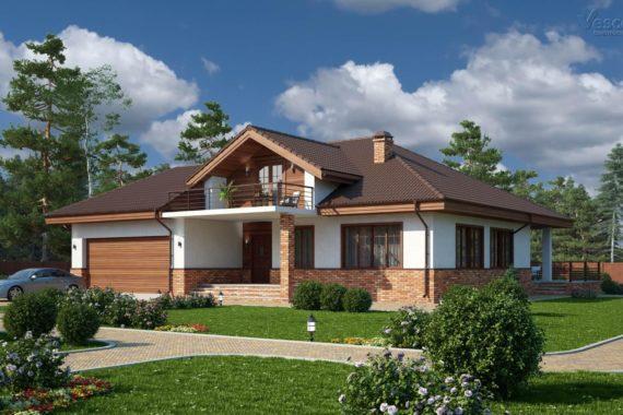 Одноэтажный дом с мансардой Марини, 330 м²