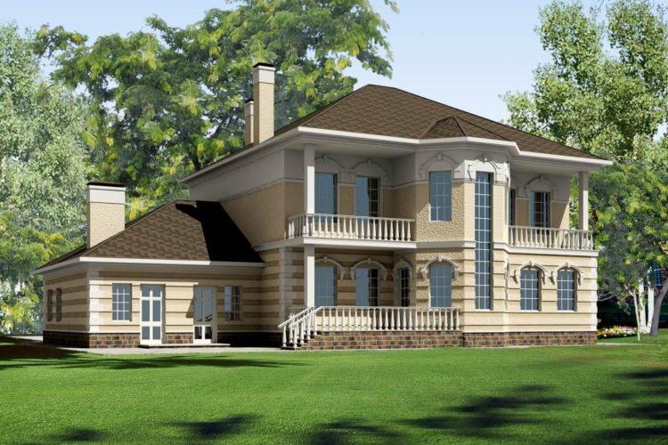 Проект двухэтажного дома с мансардой Глория (381 кв.м.)