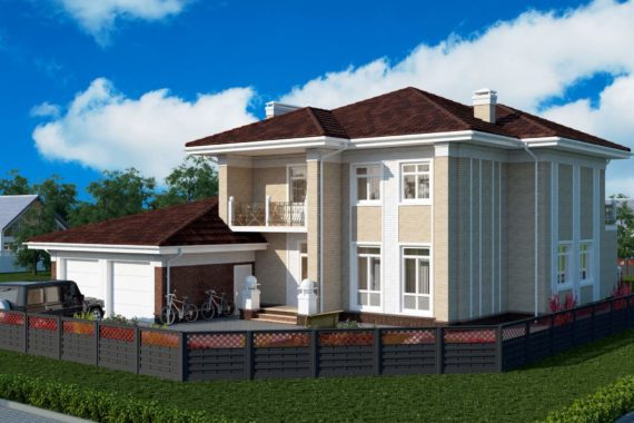 Проект двухэтажного дома Пралине-2, 364 м²