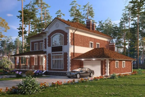 Проект двухэтажного дома с двумя террасами Мирабель-1, 323 м²