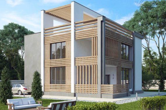 Проект компактного дома с эксплуатируемой кровлей Аликанте (357 кв.м.)