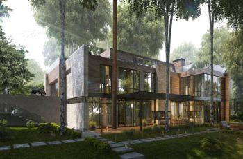 Проект Бертани (611 кв.м.) для рельефного участка