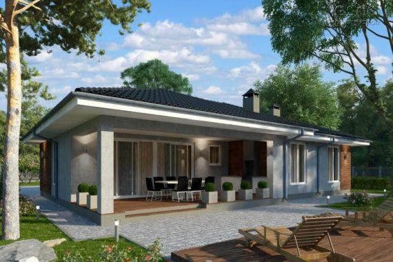 Проект одноэтажного дома Лури (171 м²)