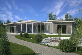 Проект одноэтажного дома Аспен, 634 м²