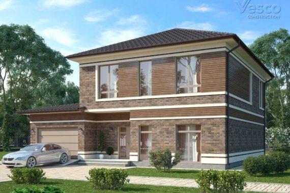 Проект дома Верден (229,3 кв.м.) в стиле прерий