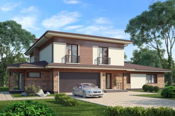 Проект дома Чендлер в стиле прерий, 434 м²
