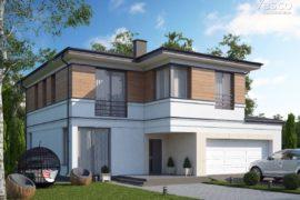 Проект двухэтажного дома в современном стиле Барроу (218 кв.м.)