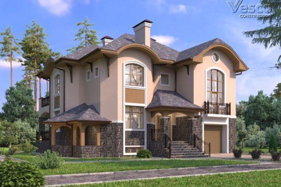 Проект двухэтажного дома Глория-2 (405 кв.м.)
