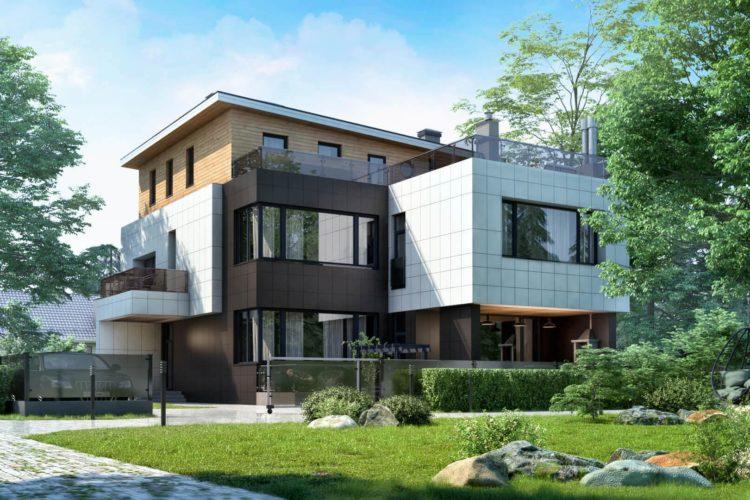Проект дома с бассейном на эксплуатируемой кровле Поль (544 кв.м.)