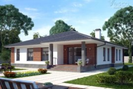 Проект одноэтажного дома Дафни