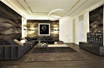 Эскиз дизайн-проекта дома Шамони