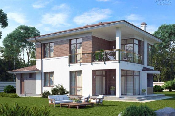 Проект современного дома Монелья, 220 м²