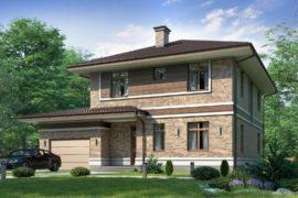 Проект двухэтажного дома Верден-2, 223 м²