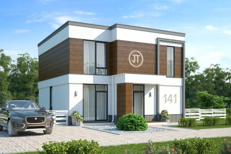 Проект современного дома стиле минимализм Пионер (137 м²)
