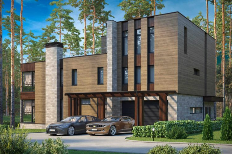 Проект современного дома Грейс, 671 м²