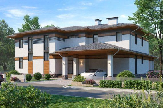 Проект дома в современном стиле Хаген (447,6 кв.м.)