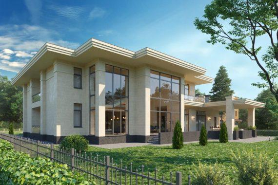 Проект современного дома с панорамными окнами ГАМИЛЬТОН, 801 м²