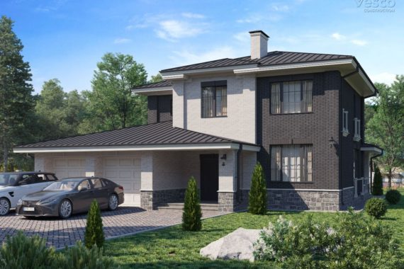 Проект двухэтажного дома Норман, 253 м²