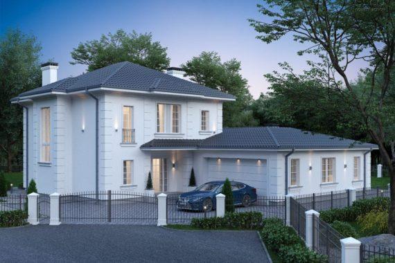 Проект дома для угловых участков ГРАН, 330 м²