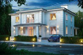 Проект дома в стиле современной классики Модена, 326 м²