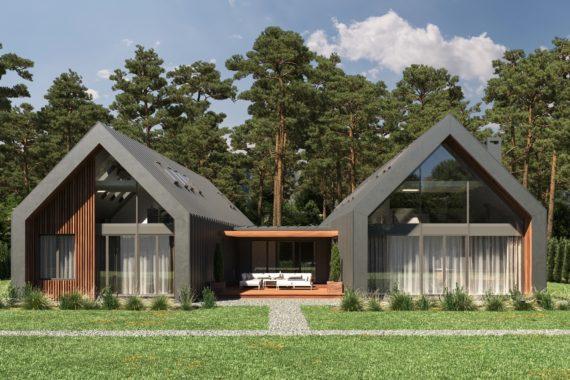 Проект дома в стиле барнхаус — ТОРСЕН, 380 м²