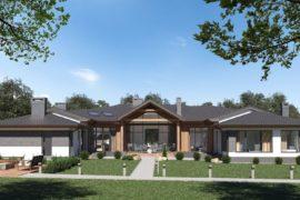 Проект современного одноэтажного дома Атланта, 548 м²