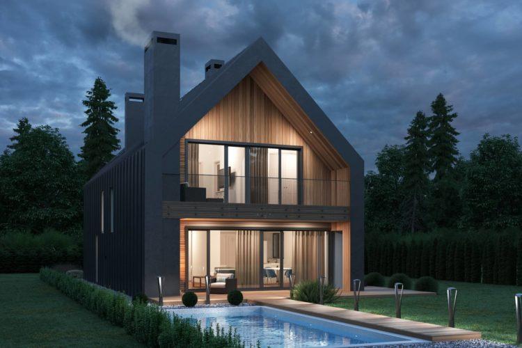 Проект для узких и небольших участков Андор, 198 м²