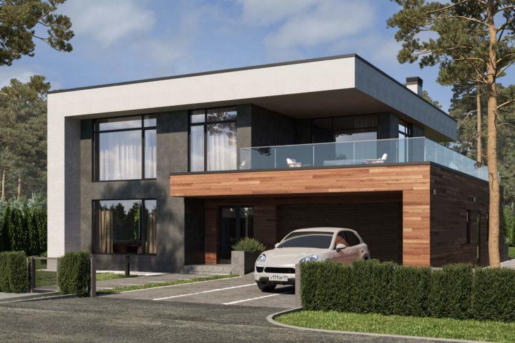 Современный проект Турин в стиле Минимализм, 450 м²