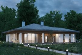 Современный проект одноэтажного дома ТОРОНТО, 271 м²